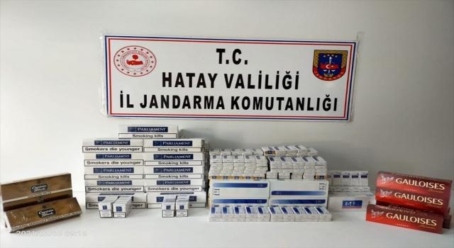 Hatay'da Irak'tan gelen tırlarda 1510 paket kaçak sigara ele geçirildi