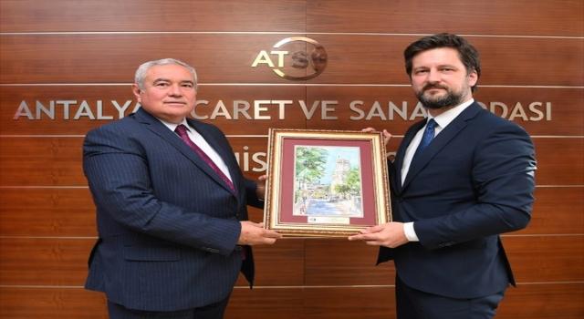 Macaristan Büyükelçisi Viktor Matis, ATSO Başkanı Çetin'i ziyaret etti