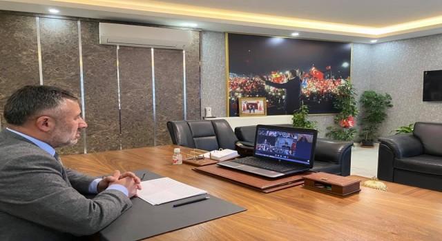 AK Partinin 81 il başkanı video konferans sistemiyle bir araya geldi