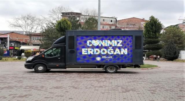 """Battalgaziden New Yorka """"Canımız Erdoğan""""lı cevap"""