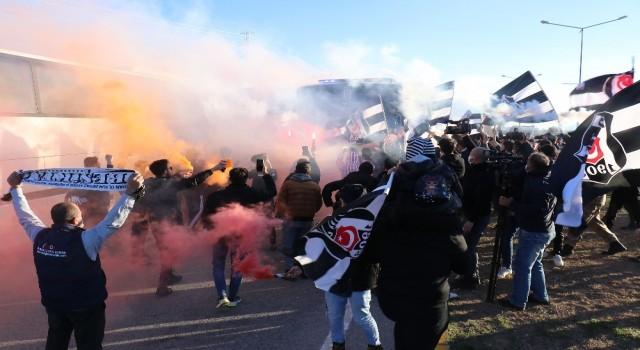 Beşiktaşa Malatyada coşkulu karşılama