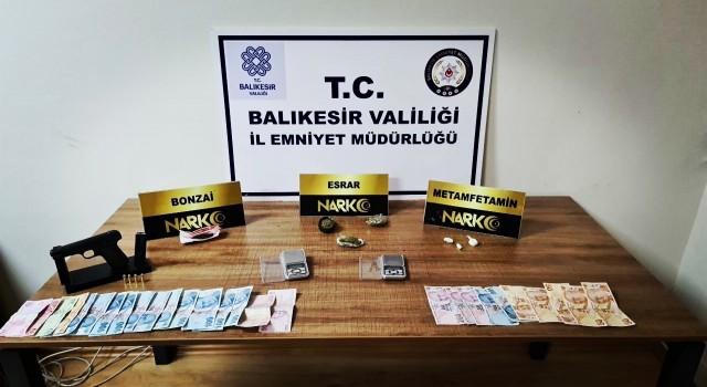 Balıkesirde uyuşturucu operasyonunda 4 kişi tutuklandı