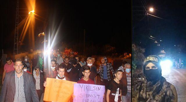 Dervişiye Köyü Sakinleri İsrail'in Zulmüne Sessiz Kalmadı…