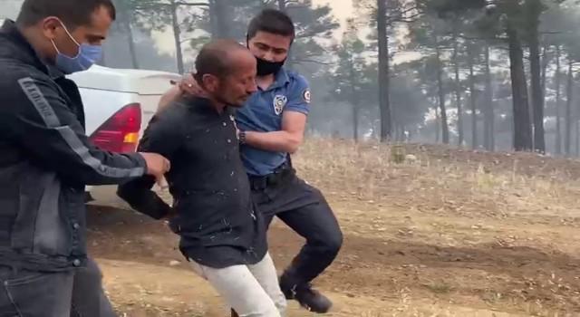 Pozantıda ormanı yakan şahıs suçüstü yakalandı