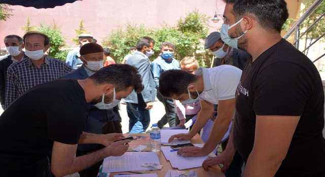 Çatakta 'Mobil Aşı Standı kuruldu