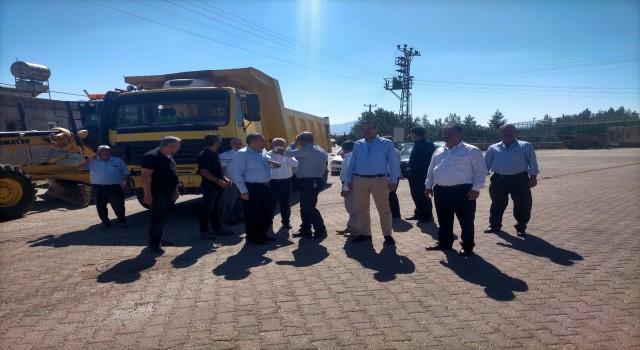 Erdoğan, asfalt çalışmalarını inceledi
