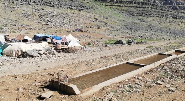 Uludere Belediyesinden yaylalardaki göçerler için temiz su hizmeti