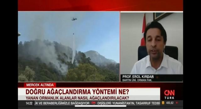 Prof. Dr. Kırdar, orman yangınları sonrasında yapılabilecekleri canlı yayında anlattı