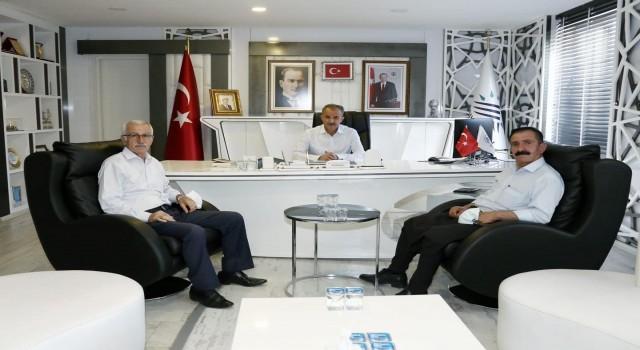 Alevi Kültür Derneği Başkanı Tanrıverdiden Başkan Kılınça ziyaret