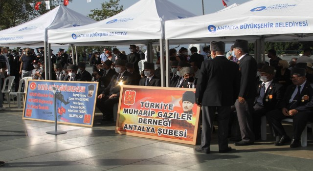 Antalyada Gaziler Günü, düzenlenen tören ile anıldı