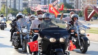 Gaziantep'teki motosiklet tutkunları, Gaziler Günü dolayısıyla kenti turladı