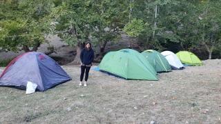 Osmaniye'de doğaseverler Karacoğlan Kanyonunda kamp kurdu