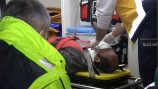 Bursada yağış nedeniyle kontrolden çıkan TIR yan yattı: 1 yaralı