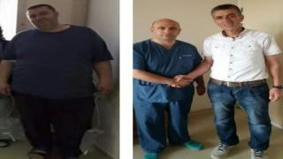 Üç çocuk babası Arıkan, 229 kilodan 78 kiloya düştü