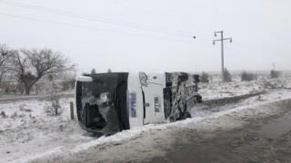 Konya 'da 2 tur otobüsü kaza yaptı: 1 ölü, 40dan fazla yaralı