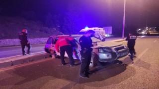 Alkollü sürücü uygulama noktasına daldı, polisler canını zor kurtardı
