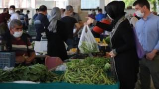 Denizlide pazar yerleri tedbirler kapsamında 2nci kez açıldı