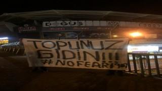 Fenerbahçe Stadına tepki parkartı: Topunuz gidin