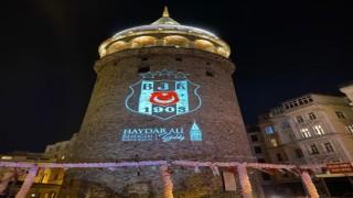 Galata Kulesine Beşiktaş arması yansıtıldı