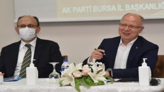 17 ilçe başkanı ile Bursanın bugünü ve geleceği konuşuldu