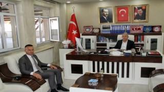 Ağrı Milli Eğitim Müdürü Tekinden AK Parti Ağrı İl Başkanı Özyolcuya ziyaret
