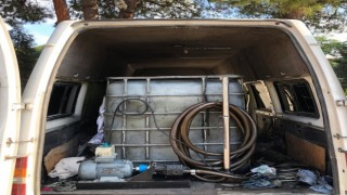 Akaryakıt kaçakçılığında 1 şüphelinin aracında 2 bin litre karışımlı akaryakıt ele geçirildi