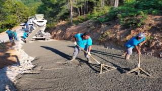 Alanya Belediyesinin yol ve asfalt seferberliği