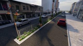 Atatürk Bulvarındaki refüjlere yeni düzenlenme yapılıyor