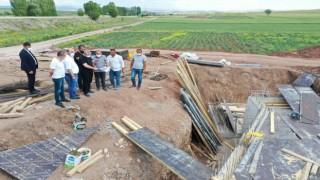 Başkan Aşgın, Koçhisar isale hattındaki çalışmaları inceledi