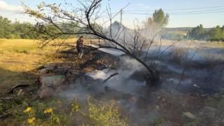 Bingölde arazi yangını