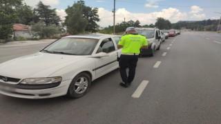 Burdurda 172 sürücüye ceza yazıldı, 11 sürücünün de ehliyetine el konuldu