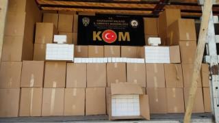 Gaziantepte 2 milyon 220 bin makaron ele geçirildi: 2 gözaltı