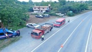 Giresunda drone destekli trafik denetimi gerçekleştirildi