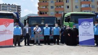 Giresundan Suriyeye 8 tır yardım malzemesi gönderildi
