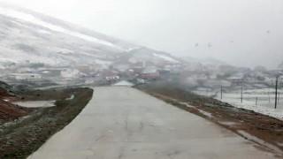 Gümüşhaneye Haziran ayında kar yağdı