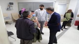 İl Başkanı Yıldırımdan sağlık çalışanlarına ziyaret