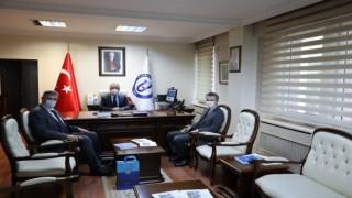 İl Müdürleri Özcan ve Ofluoğlu, Rektör Uzunu ziyaret etti