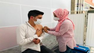 Ispartada AVMde aşı istasyonu kuruldu
