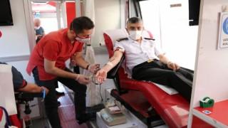 Jandarma teşkilatından kan bağışına destek