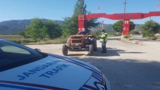 Jandarmadan 25 araç sürücüsüne 18 bin 400 TL ceza