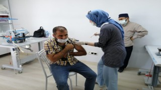 Kahta OSBde mobil aşı uygulaması başladı