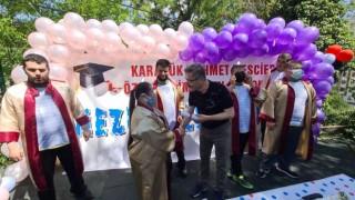Karabükte 7 özel öğrenci mezuniyet coşkusu yaşadı