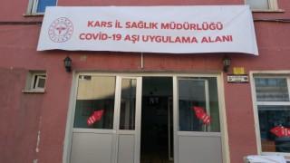 Karsta Kovid-19 aşılama çalışmaları hız kazandı