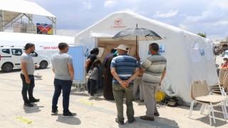 Kırşehirde çadırda aşı seferberliği