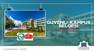 """Konyada """"Güvenli Kampüs Belgesini alan ilk üniversite 'KTO Karatay"""