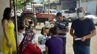 Osmaniyede sanayi sitesinde 'yerinde aşı uygulaması