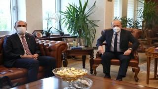 Rektör Türkmen, Çalışma ve Sosyal Güvenlik Bakanını ziyaret etti