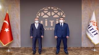 Rektör Uzun, Hitit Üniversitesi Rektörü Öztürkü ziyaret etti