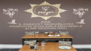 Rizedeki uyuşturucu operasyonunda 2 kişi gözaltına alındı