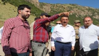 Siirt Valisi Hacıbektaşoğlu yol yapım çalışmalarını denetledi